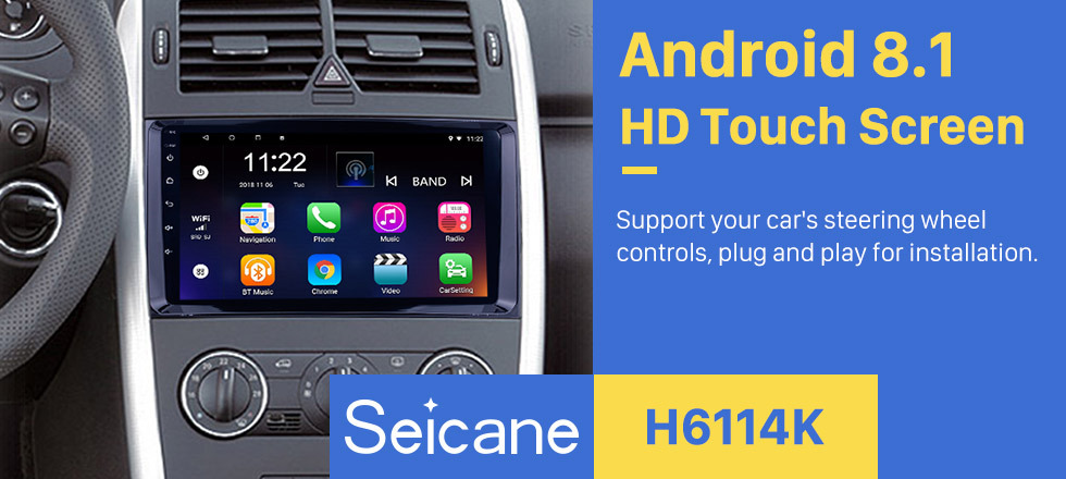 Seicane 9 inch Pure Android 8.1 In Dash GPS Navigation System for 2004-2012 Mercedes Benz B W245 B150 B160 B170 B180 B200 B55 Radio Bluetooth  WiFi 1024*600 HD Touchscreen