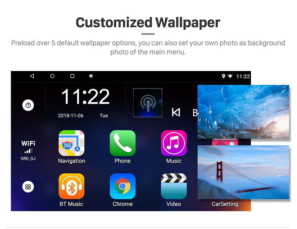 Seicane 9 pulgadas Android 8.1 2012 2013 2014 Chevy Chevrolet Malibu Radio Sistema de navegación GPS con 1024 * 600 Pantalla táctil Bluetooth Cámara de respaldo DVR Control del volante Enlace del espejo