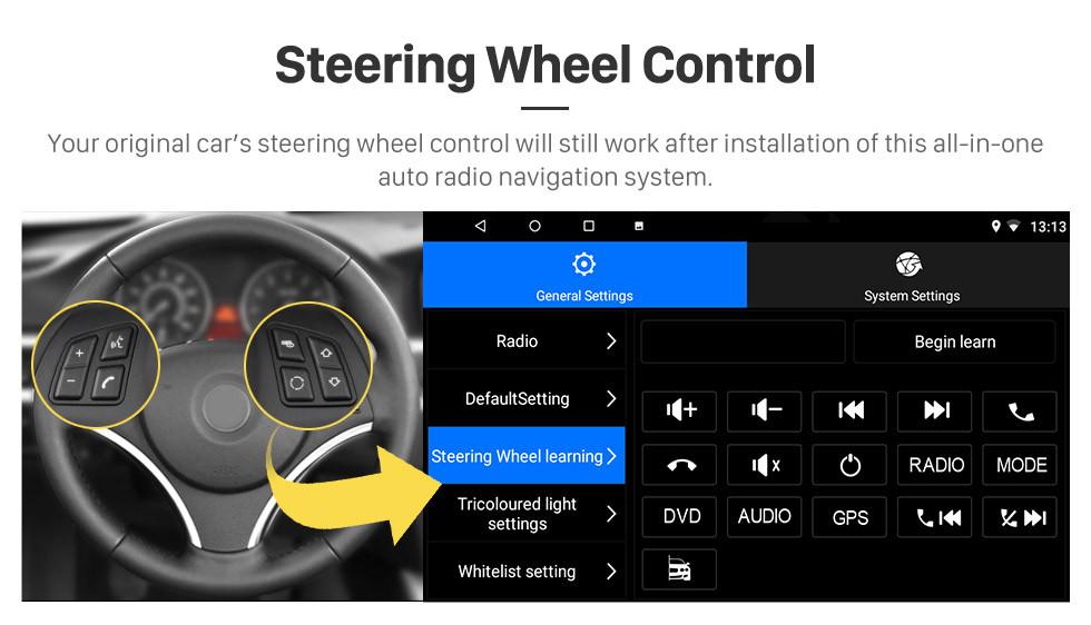 Seicane Android 8.1 2016 Suzuki Baleno no painel de rádio Sistema de navegação GPS Bluetooth 3G WIFI OBD2 Mirror Link Steering Wheel Control