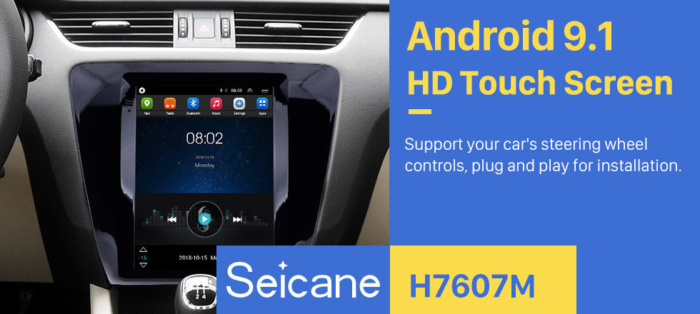 Seicane 9.7 inch Android 9.1 Radio GPS Navigation System for 2015 2016 2017 2018 Skoda Octaiva with 4G WIFI Quad-core CPU support Mirror Link OBD2 Steering Wheel Control HD 1080P Video Rearview Camera