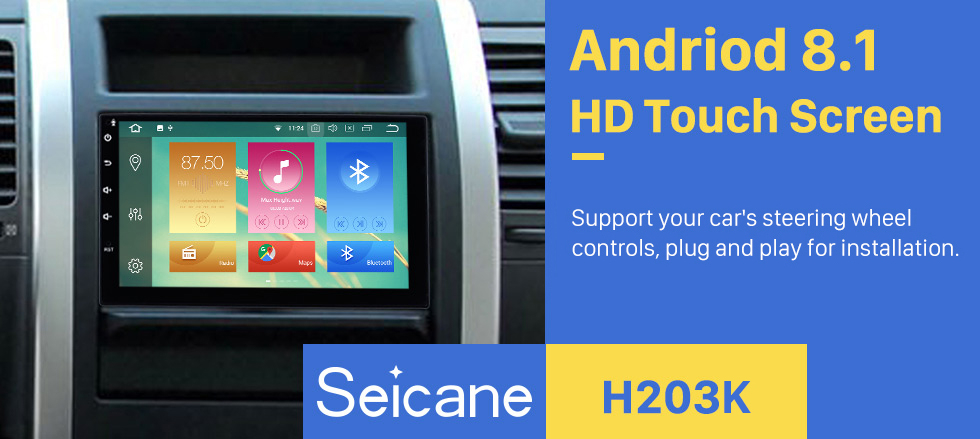 Seicane 7 inch Android 8.1 HD Touch screen Universal GPS Navigation Radio with Bluetooth WIFI support 1080P Video Steering Wheel Control