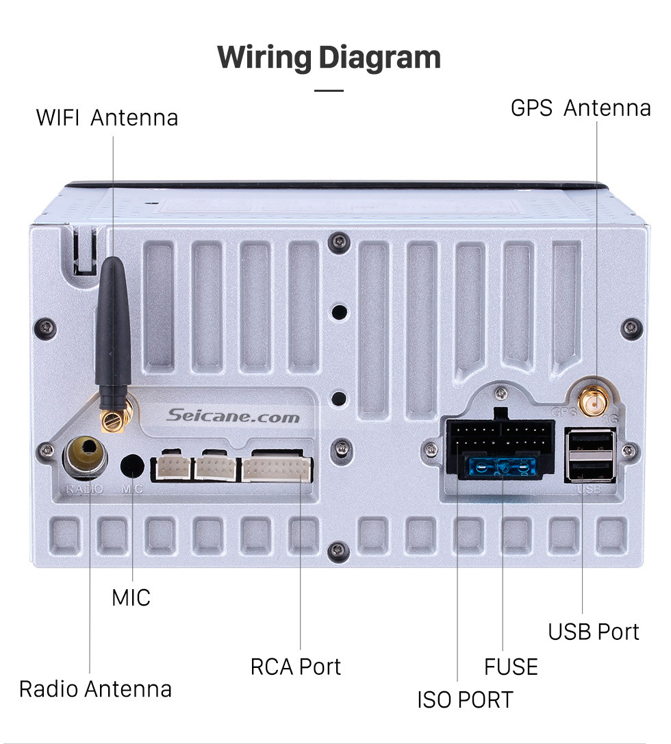 Seicane 7 Zoll Android 8.1 HD Touchscreen Universal GPS Navigationsradio mit Bluetooth WIFI Unterstützung 1080P Video Lenkradsteuerung