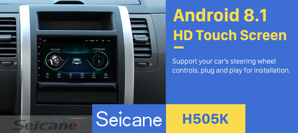 Seicane Android 8.1 Universal Radio Multimedia Player GPS Navigation 7 inch HD touch screen Bluetooth USB Carplay Steering Wheel Control