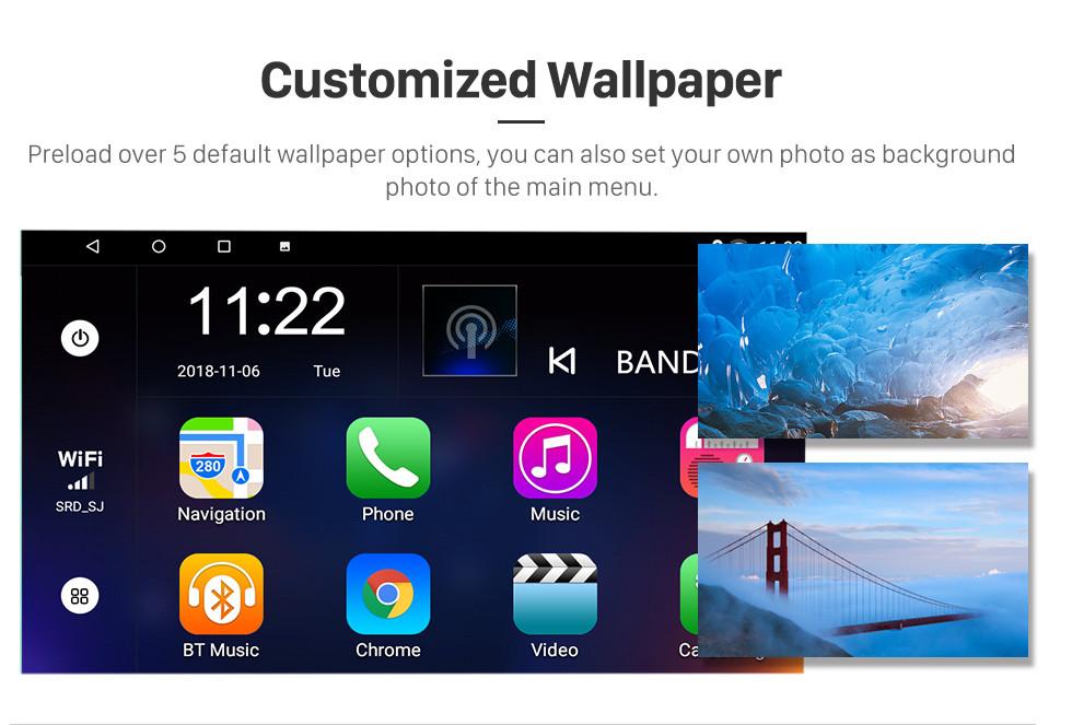 Seicane Android 8.1 GPS Rádio 10.1 Polegada HD Unidade de Tela Sensível Ao Toque Para 2010 2011 2012 2013 2014 2015 Mitsubishi ASX Peugeot 4008 Bluetooth Música WI-FI Suporte Retrovisor Câmera Controle de Volante