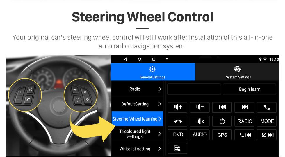 Seicane Android 8.1 Universal Toyota Hyundai Kia Nissan Volkswagen Suzuki Honda Radio GPS Navigation mit Bluetooth USB WIFI Unterstützung Rückfahrkamera