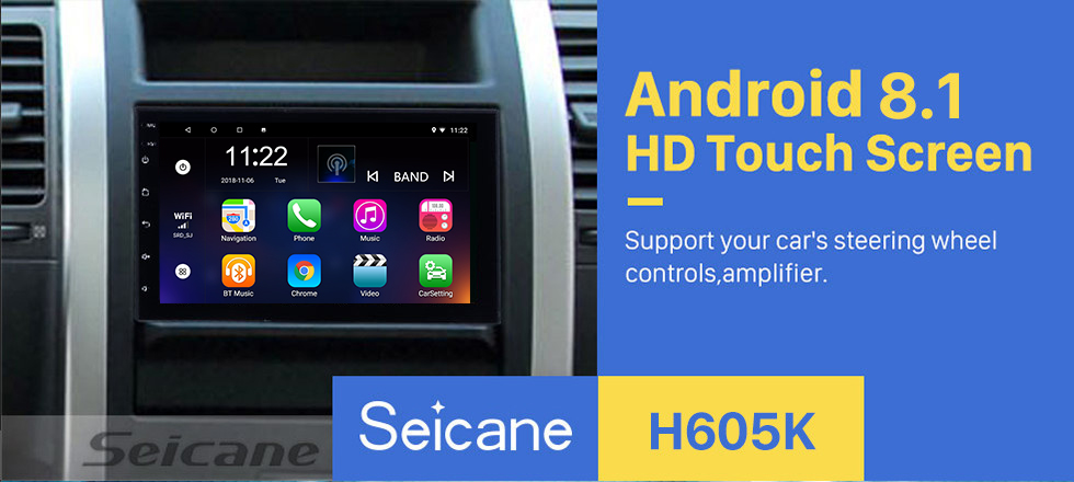 Seicane Android 8.1 Universal Toyota Hyundai Kia Nissan Volkswagen Suzuki Honda Radio GPS Navigation with Bluetooth USB WIFI Support Rearview Camera