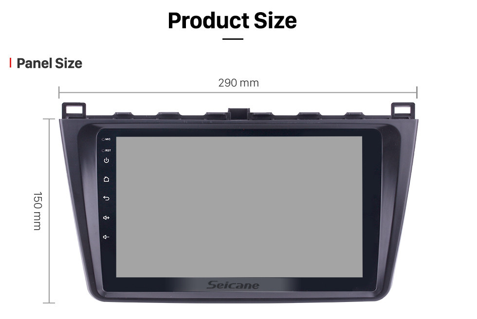 Seicane In dash Radio 9 inch HD 1024*600 Touchscreen Android 8.1 For 2008 2009 2010 2011-2015 Mazda 6 Rui wing GPS Navigation System Support Steering Wheel Control DVR OBDII WiFi Backup Camera DAB+
