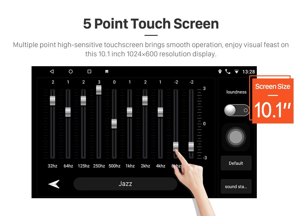 Seicane 10.1 Polegada HD Touchscreen Rádio sistema de Navegação GPS Android 8.1 Para 2013 2014 2015 Toyota Corolla Volante Controle Bluetooth DVR Carplay USB WIFI Música Retrovisor
