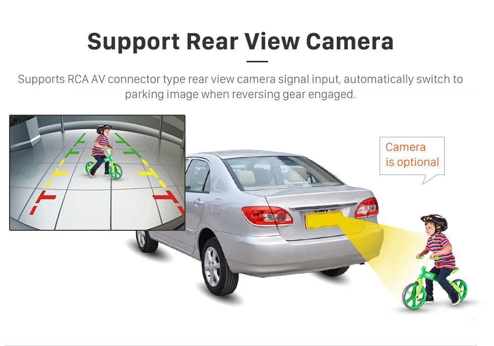 Seicane 10.1 Polegada 1024 * 600 Android 8.1 2003-2007 Honda Accord 7 Car Stereo Unidade de Cabeça de Navegação GPS com 1080 P Vídeo Bluetooth Música Autoradio Controle de Volante Câmera Retrovisor DVR 3G Wifi