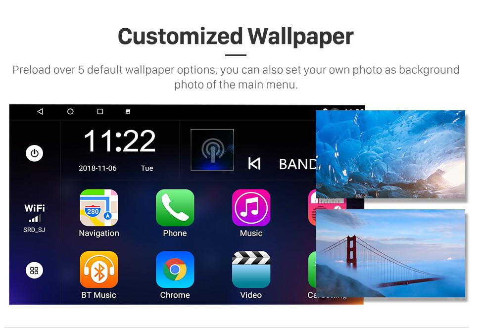 Seicane 10,1-дюймовый Android 8.1 HD 1024 * 600 с сенсорным экраном Автомобильный радиоприемник для 2003 2004 2005 2006 2007 Honda Accord 7 GPS-навигатор Bluetooth Музыка WIFI USB Зеркальная связь Головное устройство Поддержка DVR OBD2 Управление рулевого колеса