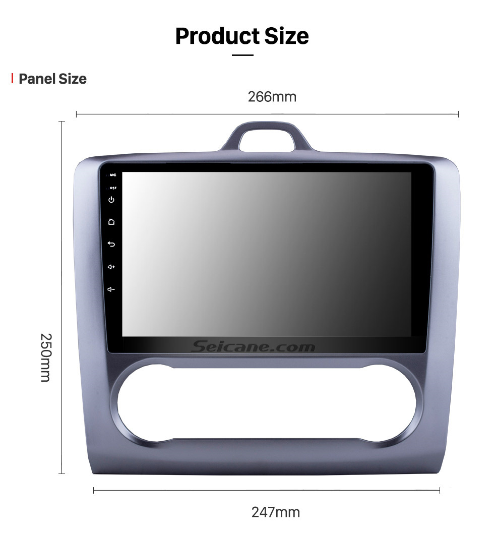 Seicane 9 Zoll HD Touchscrren Android 8.1 2004-2011 Ford Focus Exi AT Radio mit GPS-Navigation WIFI Bluetooth USB Musik 1080P Video Mirror Link Rückfahrkamera