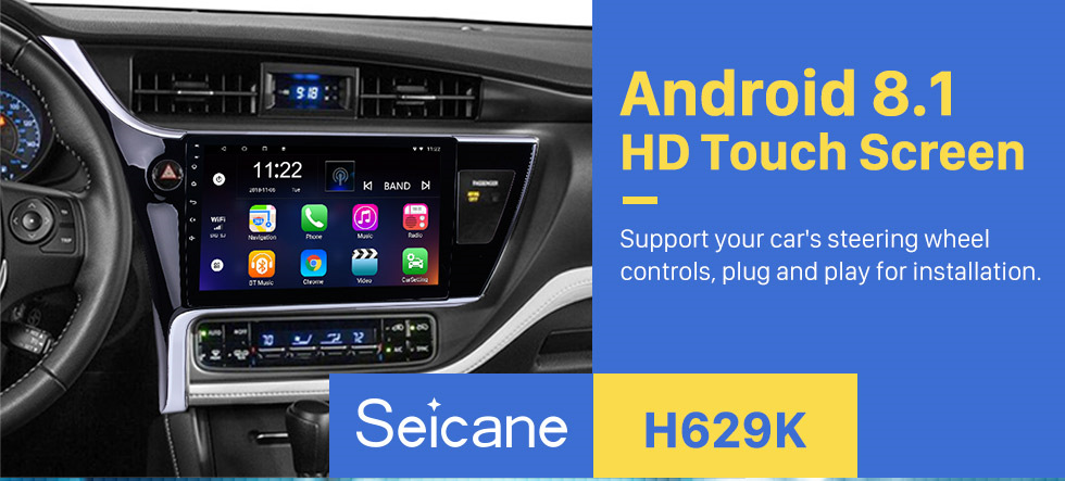 Seicane 2017 Toyota Corolla (LHD) left driving 10.1 inch Android 8.1 Radio GPS Navigation System Bluetooth HD 1024*600 Touch Screen WiFi Mirror Link