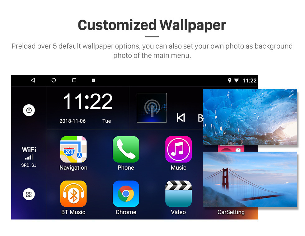 Seicane 2012 2013 2014 VW Volkswagen Magotan B7 Bora Golf 6 10.1 inch Android 8.1 HD 1024*600 Touchscreen Radio GPS Navigation system with Bluetooth Music Audio Mirror link WIFI 1080P Steering Wheel Control