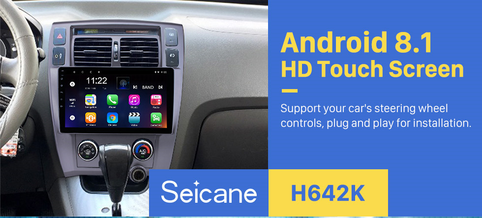 Seicane 10.1 Inch Android 8.1 HD Touchscreen Radio For 2006-2013 Hyundai Tucson LHD GPS Navigation Car Stereo Bluetooth Support Mirror Link OBD2 3G WiFi DVR 1080P Video Steering Wheel Control