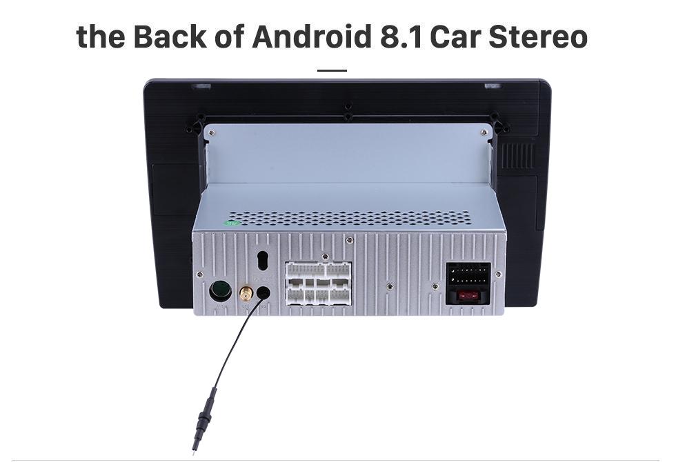 Seicane 10.1-дюймовый Android 8.1 1024 * 600 2014 2015 HONDA JAZZ/FIT (РЖС) Радио Bluetooth Сенсорный экран GPS-навигации Автомобильный стерео Зеркало Ссылка Рулевое колесо управления 1080P DAB+