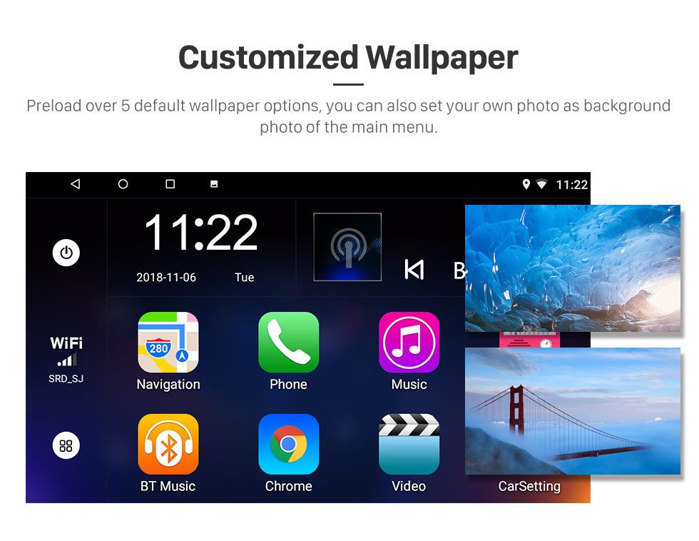 Seicane 10.1 polegada 1024 * 600 Ecrã Tátil Android 8.1 2014 2015 2016 2017 HONDA City RHD Rádio com 3G WI-FI Câmera de Backup De Música Bluetooth TV Digital de Controle de Volante USB OBD2 TPMS