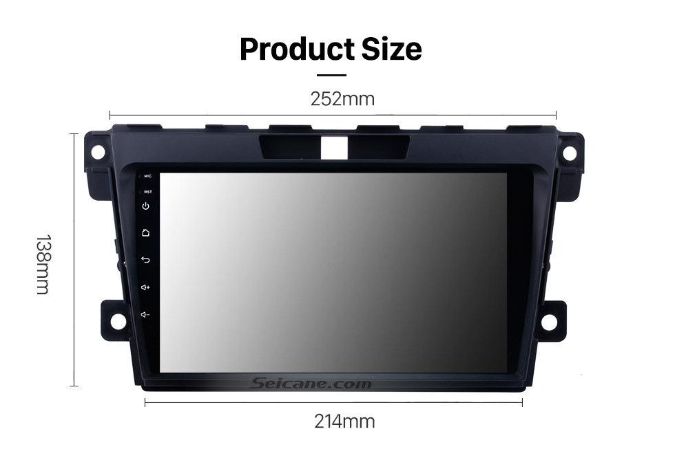 Seicane 9 Zoll Touchscreen Android 10.0 Nachrüst Navigationssystem Für 2007-2014 Mazda CX-7 Unterstützung Lenkradsteuerung Bluetooth Musik Radio