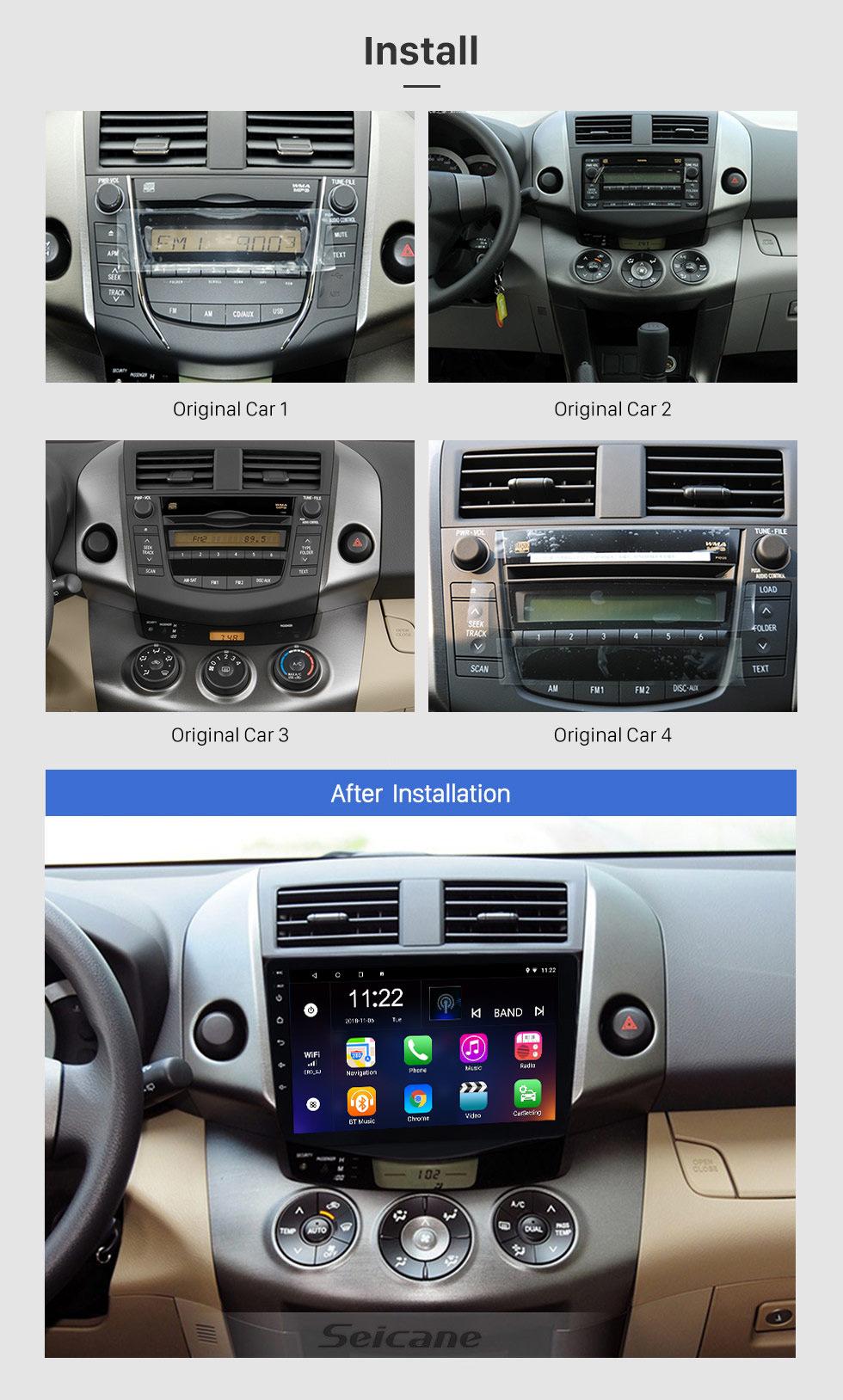Seicane 2007-2013 Toyota RAV4 Android 8.1 Radio 9 inch HD Touchscreen GPS Navigation Steering Wheel control WIFI USB Bluetooth support DVR Backup Camera TV Video