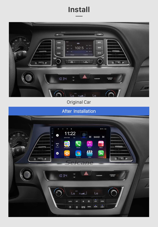 Seicane Android 8.1 2015 2016 2017 Hyundai Sonata 9 Inch HD Touchscreen Car Stereo Radio Head Unit GPS Navigation Bluetooth WIFI Support Steering Wheel Control USB OBD2 Rearview Camera
