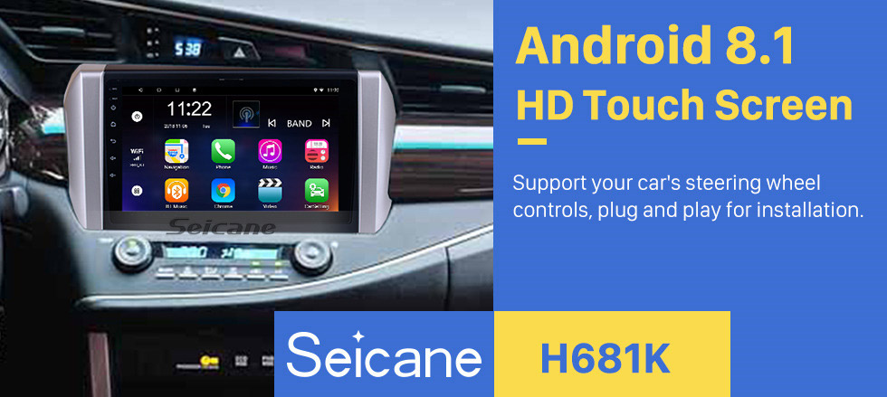 Seicane 9 inch HD Touchscreen Android 8.1 Radio for 2015 Toyota INNOVA left hand driving GPS Navigation SWC Bluetooth USB WIFI Rearview Carplay Video support DVR TPMS