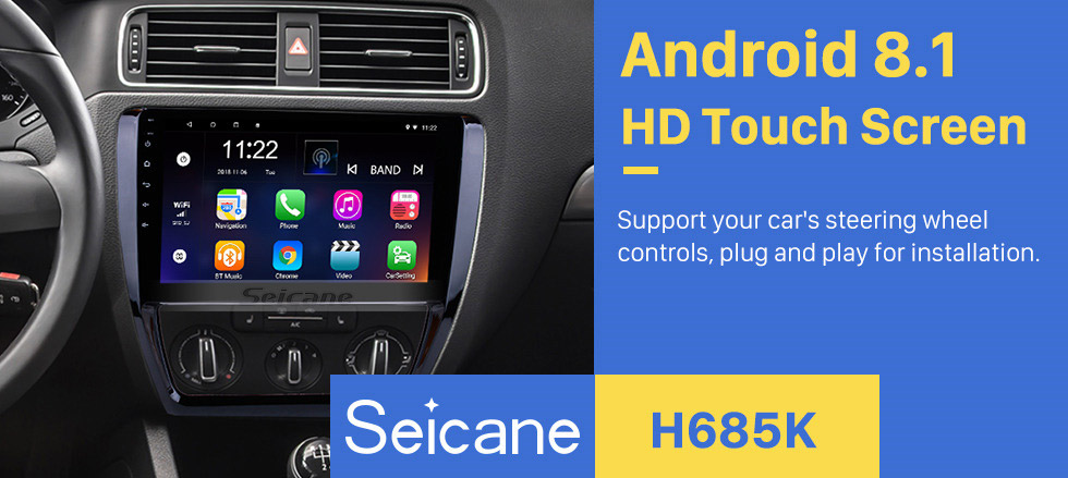 Seicane 2012 2013 2014 2015 VW Volkswagen SAGITAR GPS Navigation System Android 8.1 Radio 1024*600 Touchscreen Bluetooth Music WIFI Steering Wheel Control USB support OBD2 DVR Backup Camera