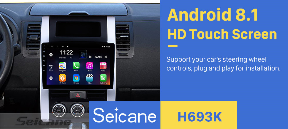 Seicane 10,1 pouces Android 8.1 Radio pour 2008-2012 NISSAN X-TRAIL XTrail XTrail Trail T32 T31 Qashqai Dongfeng MX6 HD Écran tactile GPS Navigation Auto Stéréo Bluetooth WIFI Miroir Lien SWC Carplay DVR Rearview USB