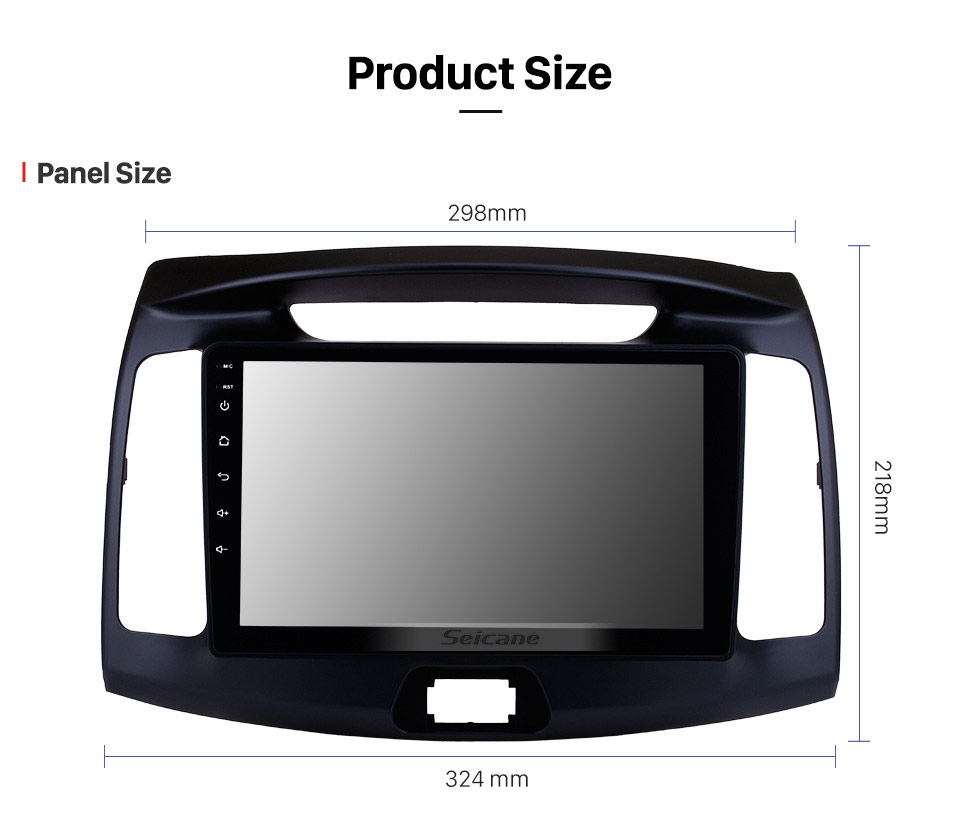 Seicane 9 inch OEM Android 8.1 2011 2012 2013 2014 2015 2016 Hyundai Elantra Radio GPS Navigation System with HD Touch Screen WIFI Bluetooth OBD2 TPMS Backup Camera Steering Wheel Control Digital TV