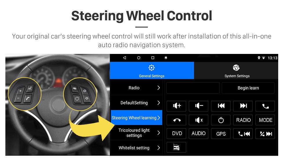 Seicane 10.1 pulgadas Android 8.1 HD Pantalla táctil 2007-2014 VW Volkswagen SKODA Octavia Radio GPS Bluetooth Unidad central Vínculo espejo OBD2 TPMS DVR Cámara de vista trasera TV digital Control del volante 3G Wifi
