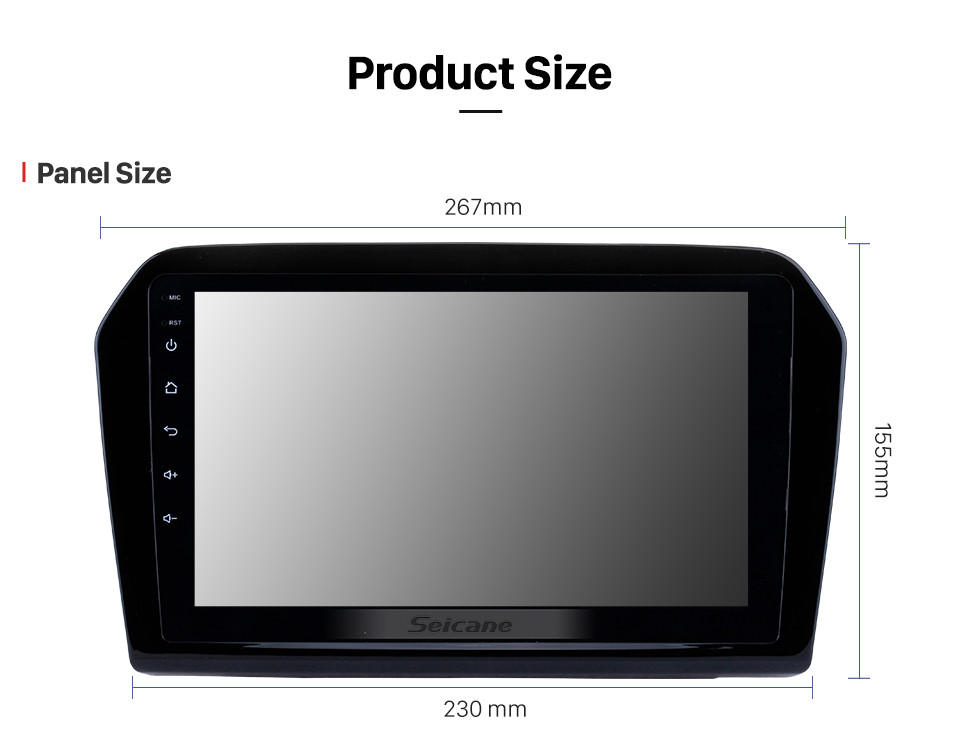 Seicane 9 inch 2012-2015 VW Volkswagen Jetta HD touchscreen Android 8.1 GPS Navigation System Bluetooth Support FM/AM/RDS Radio Carplay WIFI OBD II