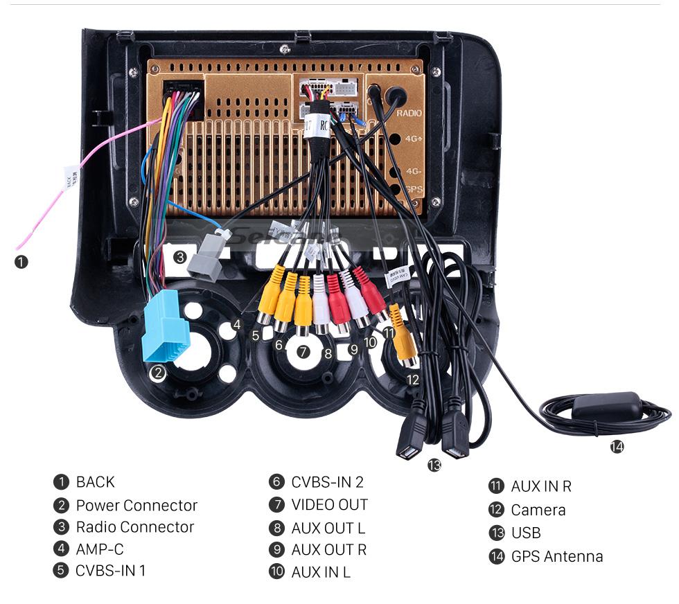 Seicane 2002-2008 HONDA Jazz (Manuel AC, RHD) Écran tactile HD de 7 pouces Système de navigation GPS stéréo Android 8.1 avec radio FM Musique Bluetooth Prise en charge de la liaison miroir WIFI TPMS Caméra de recul TV numérique USB