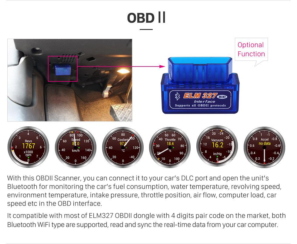 Seicane 10,1 Zoll HD Touchscreen Android 8.1 2014 Nissan QashQai X-Trail GPS-Navigationsradio mit Bluetooth WiFi Spiegel Link USB-Unterstützung Rückfahrkamera OBD2