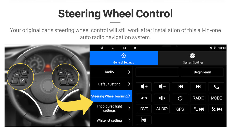 Seicane 10,1 Zoll Android 8.1 HD Touchscreen 2012 CITROEN C4 GPS-Navigationsradio mit Bluetooth WIFI-Unterstützung Lenkradsteuerung Rückfahrkamera