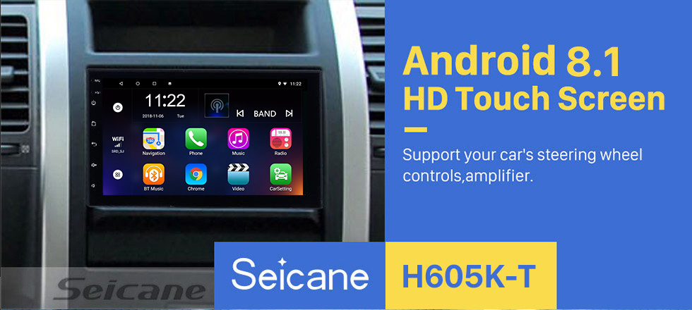 Seicane Android 8.1 Universal Toyota Hyundai Kia Nissan Volkswagen Suzuki Honda Radio GPS Navigation 1080P Video Bluetooth USB WIFI Support Rearview Camera Mirror Link Steering wheel control