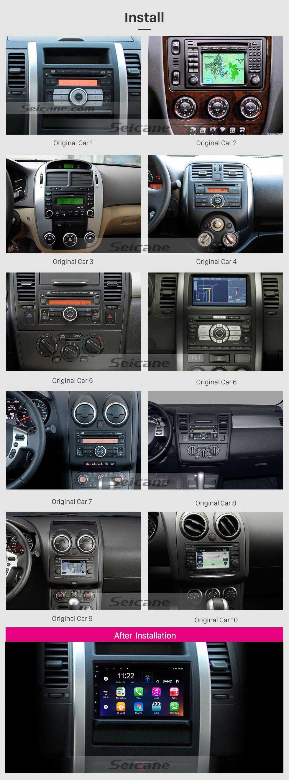 Seicane Android 8.1 Universal Toyota Hyundai Kia Nissan Volkswagen Suzuki Honda Radio GPS Navigation 1080P Video Bluetooth USB WIFI Unterstützung Rückfahrkamera Spiegel Link Lenkradsteuerung