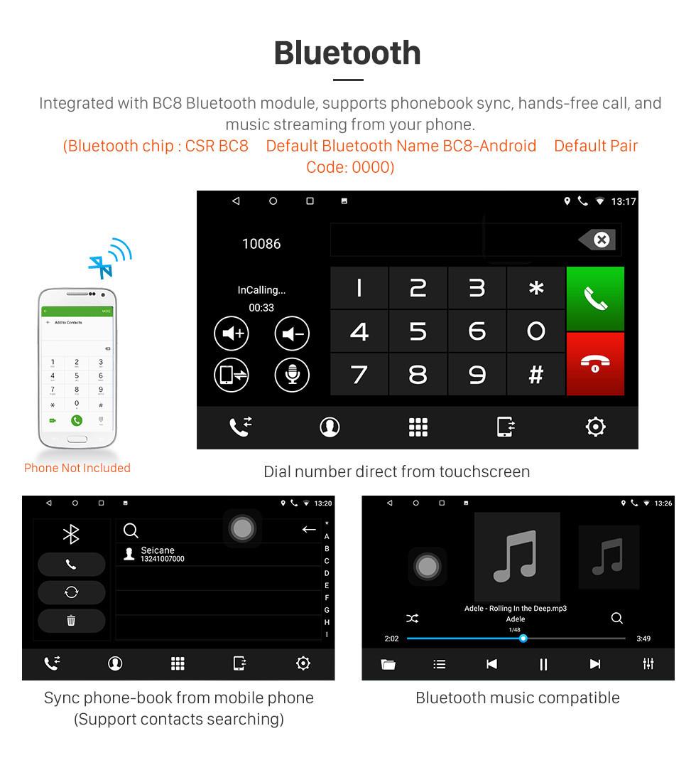 Seicane Android 8.1 Universal Toyota Hyundai Kia Nissan Volkswagen Suzuki Honda Rádio Navegação GPS Vídeo 1080P Bluetooth USB WIFI Suporte Câmera retrovisor Link espelho Espelho Controle de volante