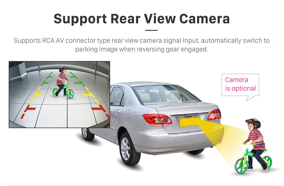 Seicane Android 8.1 Toyota Universal Hyundai Kia Volkswagen Suzuki Nissan Honda GPS de Navegação GPS 1080 P Vídeo Bluetooth USB WIFI Suporte Retrovisor Câmera Espelho Link controle de volante