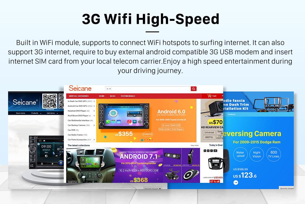 Seicane 2013 2014 2015 2016 2017 AUDI Q3 Android 8.1 9 polegada HD Touchscreen Sistema de Navegação GPS Bluetooth auto Rádio suporte 3G WI-FI Câmera Retrovisor DAB + DVR TV Digital Controle de Volante OBD2