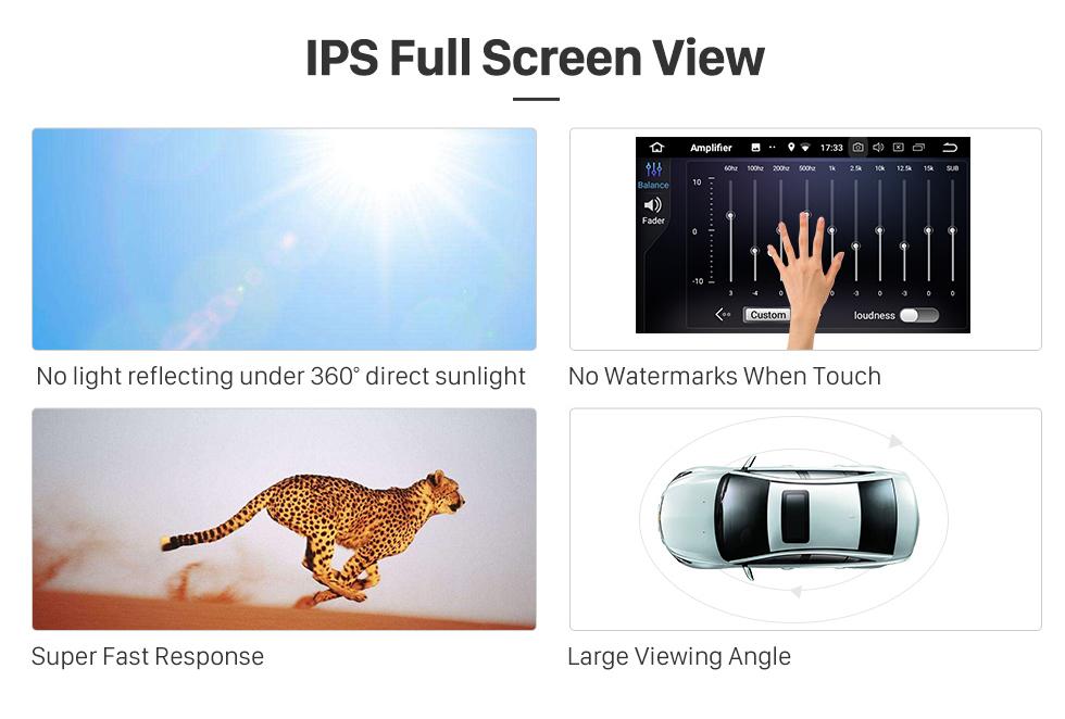 Seicane All-in-one Android 9.0 2004-2009 Radio Mazda 3 Actualización con sistema de navegación GPS en el tablero Pantalla táctil capacitiva multitáctil 1024 * 600 Bluetooth Vínculo espejo OBD2 3G WiFi HD 1080P DVR USB Cámara de respaldo