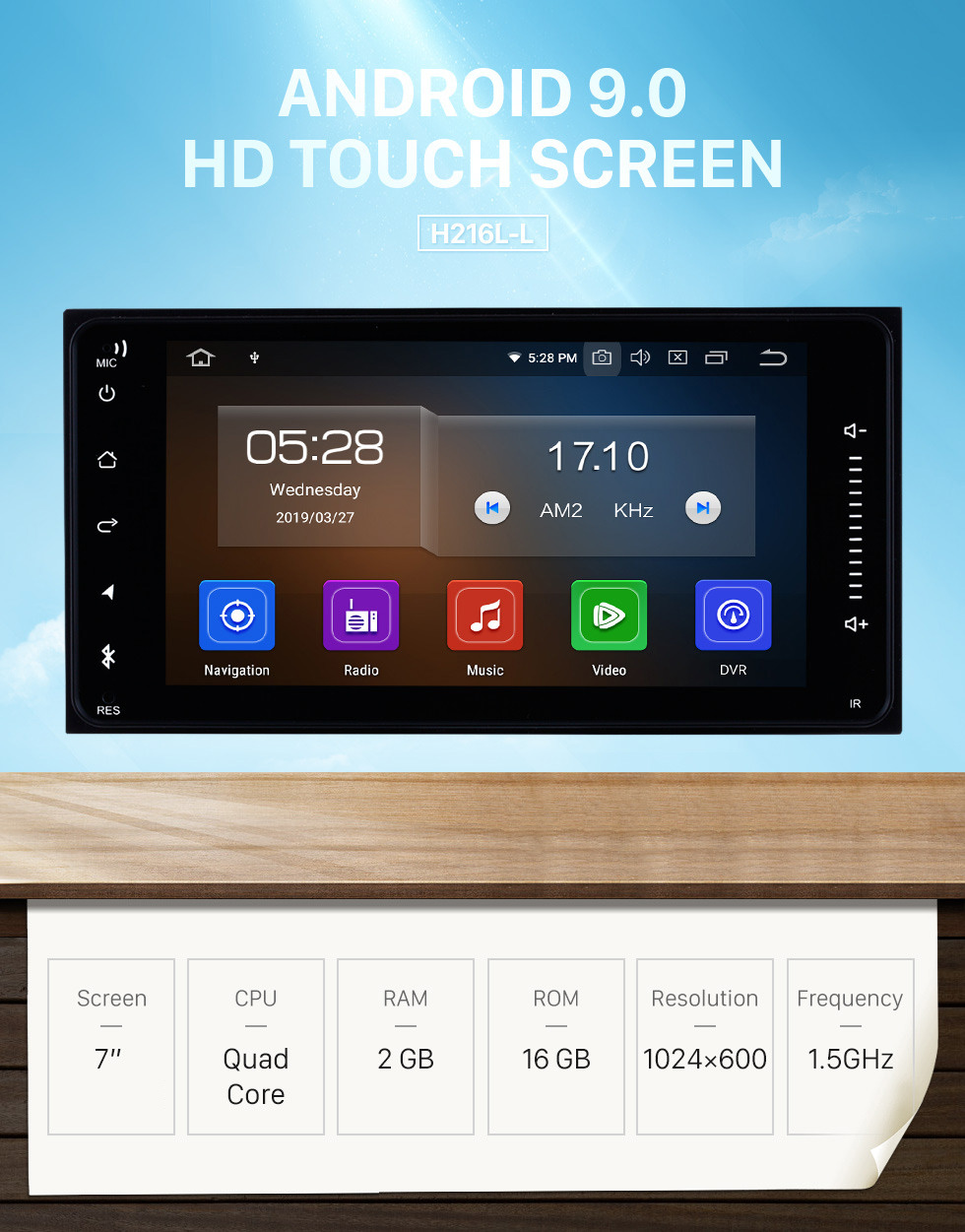Seicane 2 Din Android 9.0 radio Navigation System For 2001-2011 TOYOTA HILUX HD Touch Screen Bluetooth WiFi 3G Mirror Link OBD2 Steering Wheel Control USB CD DVD Player