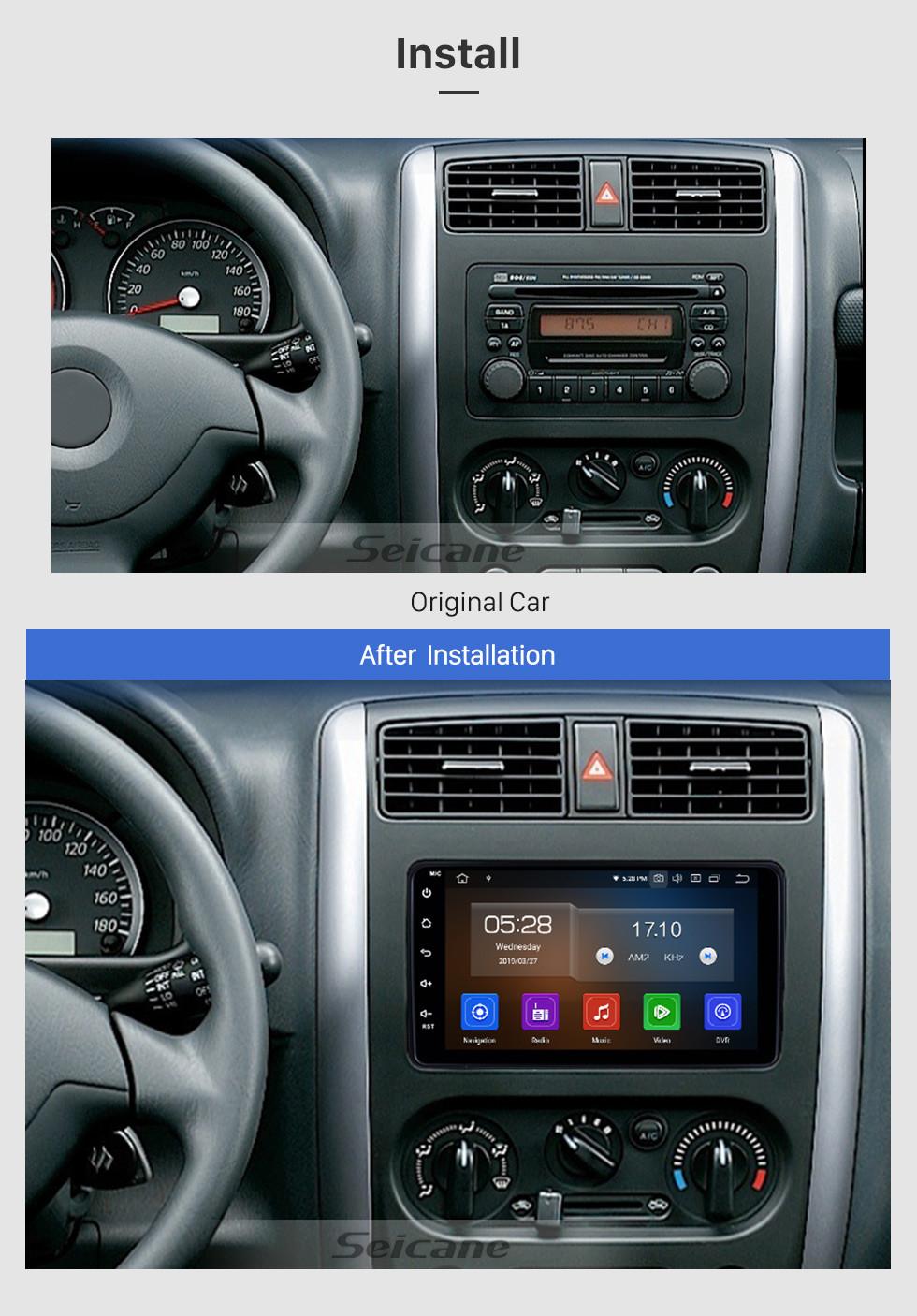 Seicane HD-Touchscreen 2007-2012 Suzuki JIMNY Android 9.0 Radio GPS-Autoradio Bluetooth-Musik MP3-TV-Tuner AUX Lenkradsteuerung USB-Unterstützung Rückwärtskamera CD DVD-Player