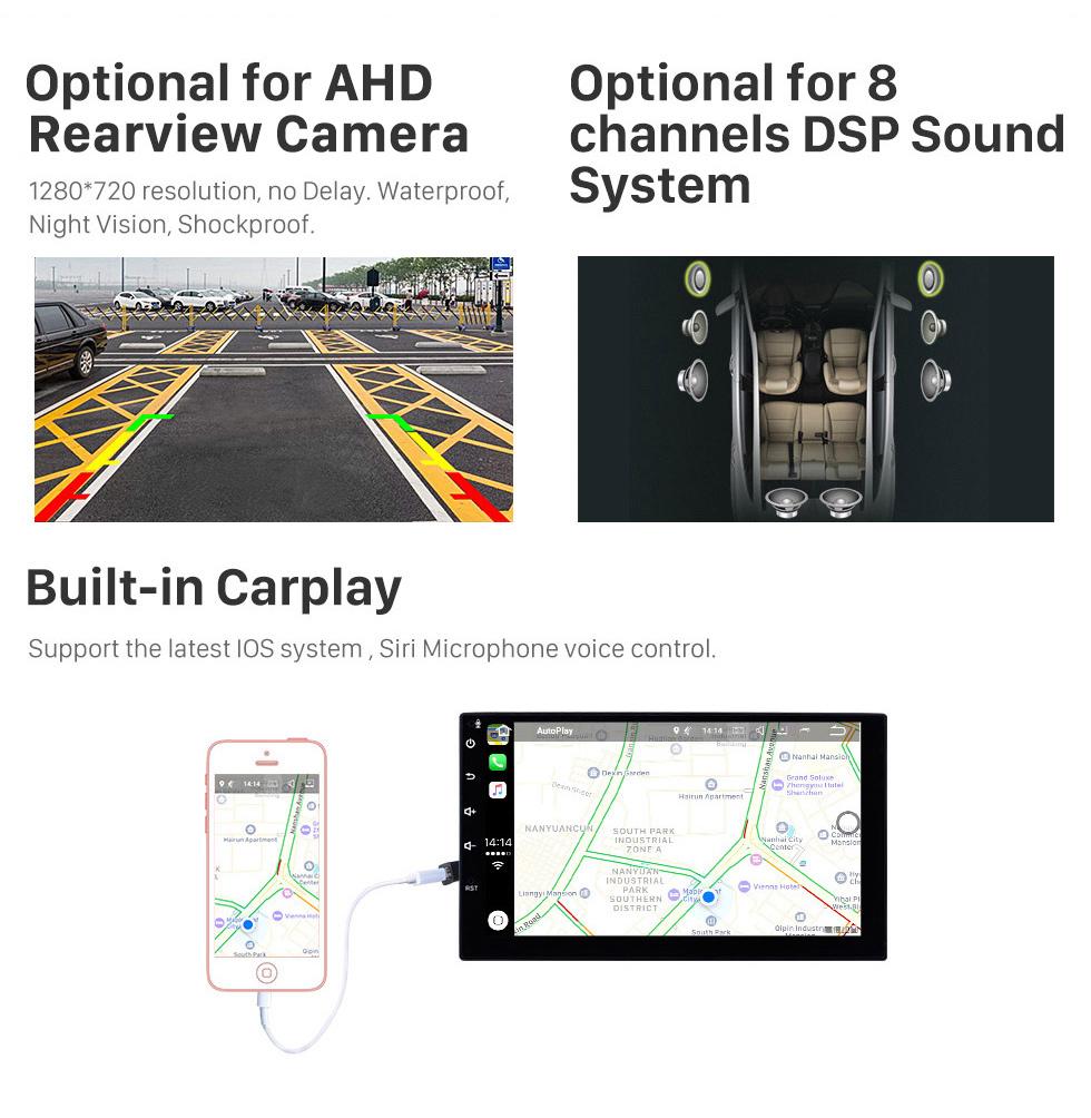 Seicane 10.1 Polegada 2012-2016 Renault Clio Digital / Analógico (MT) Android 9.0 HD Touchscreen Auto estéreo GPS Sistema de Navegação Bluetooth Suporte Do Carro Estéreo 3G / 4G WI-FI OBDII Vídeo Controle de Direção DVR