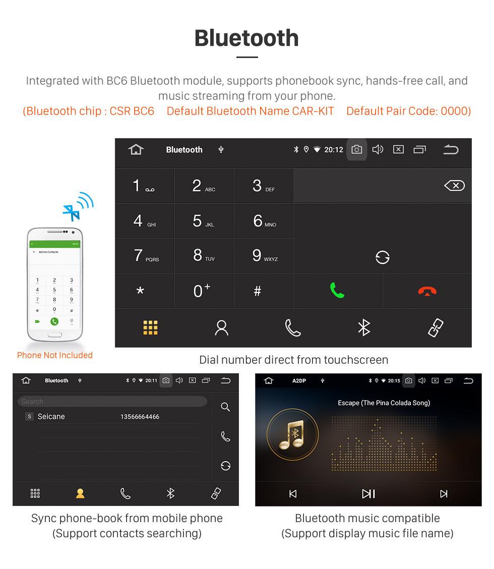 Seicane 10,1-дюймовый HD-сенсорный экран GPS-навигационная система 2012-2016 Renault Clio Digital / Analog MT Android 9.0 Auto stereo Поддержка автомобильного стерео Bluetooth 3G / 4G WIFI OBDII Видеоуправление рулевым колесом DVR