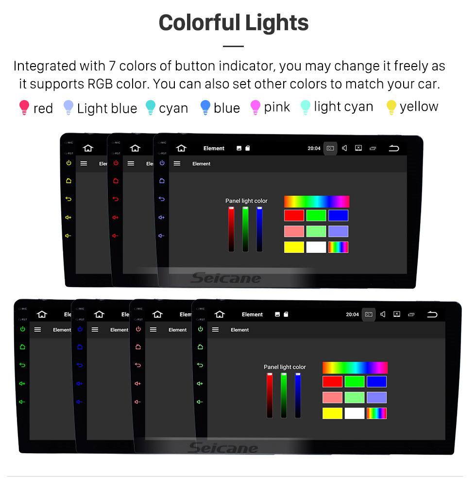 Seicane Universel 9 pouces HD Écran Tactile Android 9.0 Radio Système de navigation GPS avec Bluetooth Musique WIFI Contrôle du volant de soutien 4G USB Carplay DVD Player