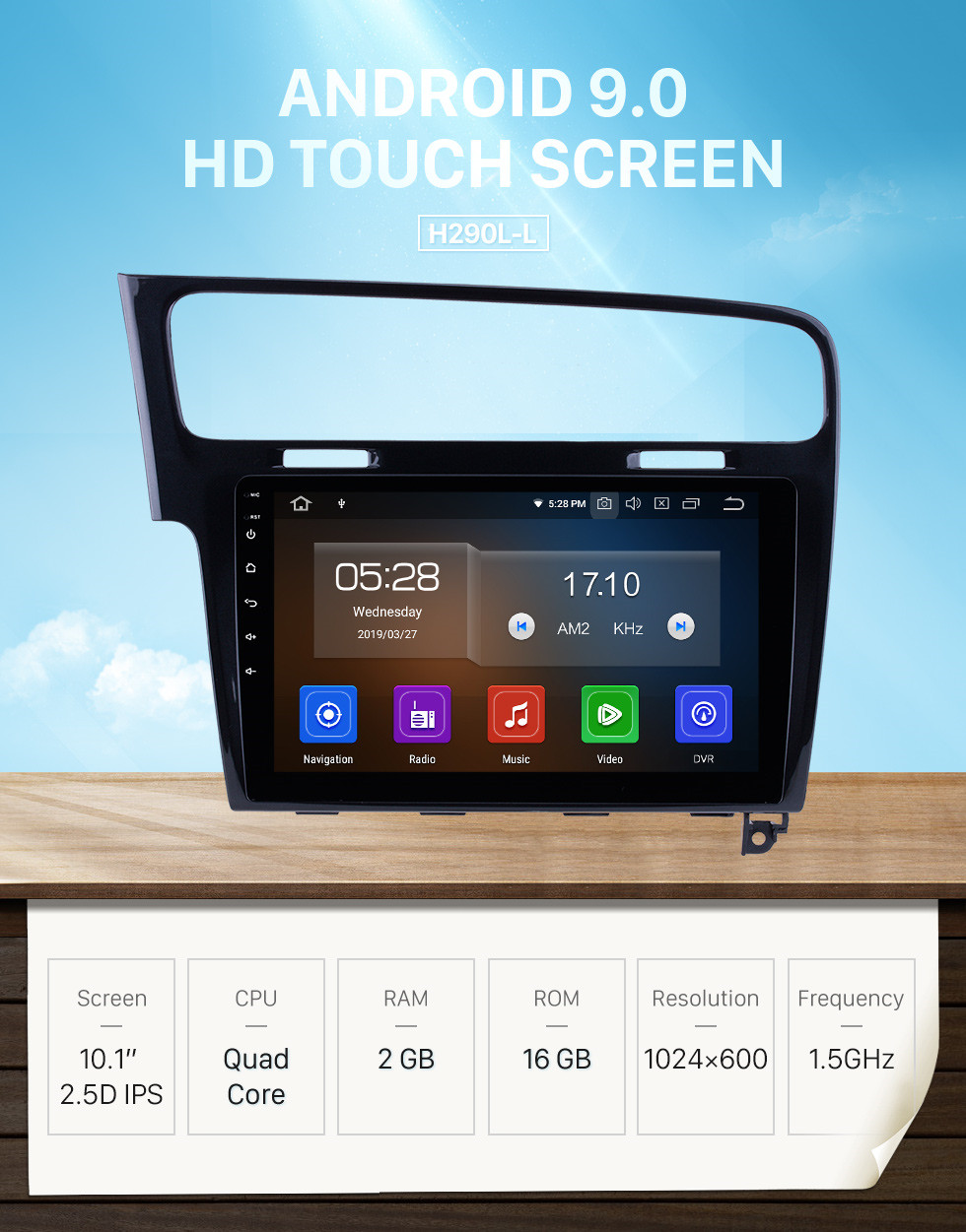 Seicane 10.1 inch 2013 2014 2015 VW Volkswagen Golf 7 Android 9.0 Radio GPS Navigation Car stereo with 1024*600 Touchscreen Mirror Link OBD2 Steering Wheel Control Rearview Camera