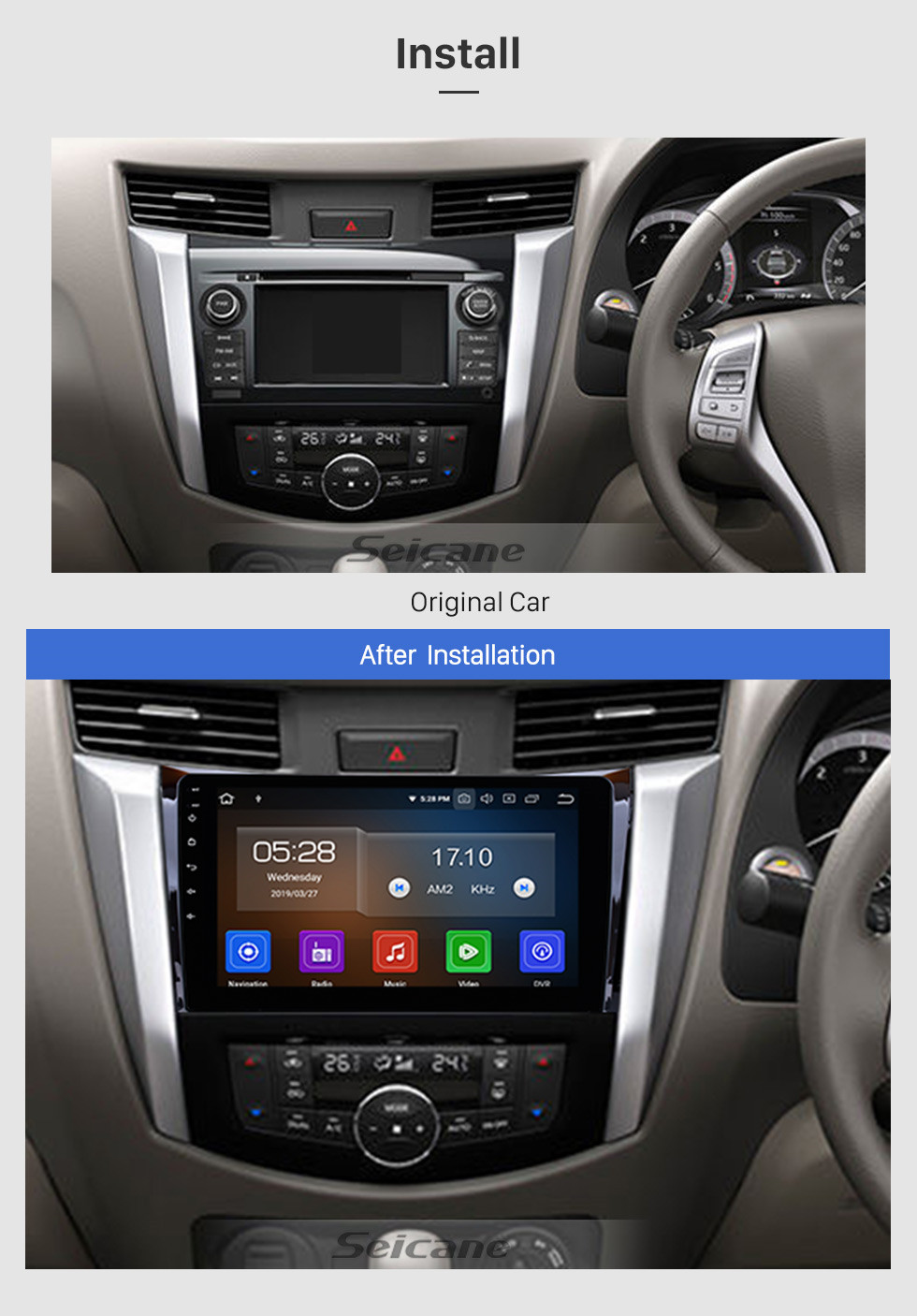 Seicane Android 9.0 2011-2016 NISSAN navara Radio GPS navigation system touchscreen head unit WIFI Bluetooth Rearview Camera