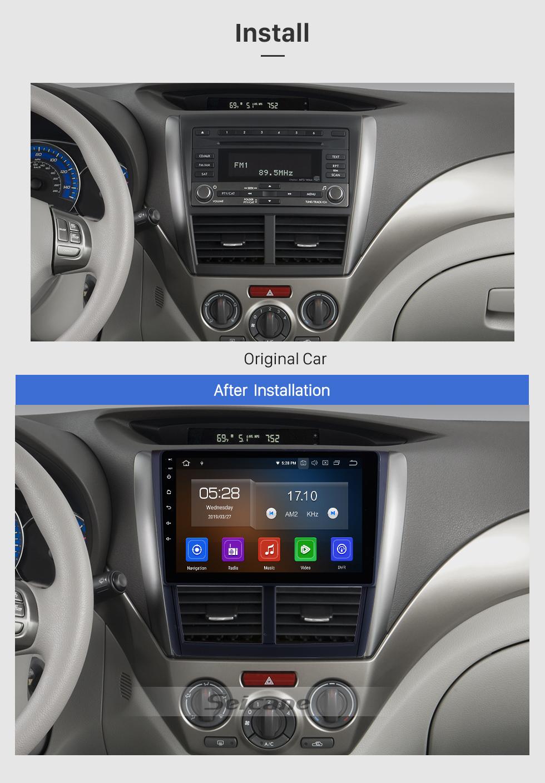 Seicane 9 pulgadas OEM Android 9.0 HD Pantalla táctil Reproductor multimedia GPS Radio Sistema de navegación GPS para 2008 2009 2010 2011 2012 Subaru Forester con soporte USB 3G / 4G WIFI Cámara de vista trasera DVR OBD II