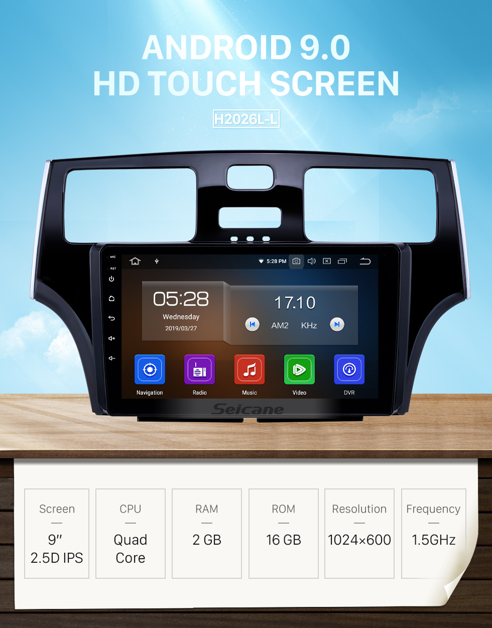 Seicane 9 inch HD Touchscreen Radio for 2001 2002 2003 2004 2005 Lexus ES300 Android 9.0 GPS Navigation Multimedia Bluetooth Phone SWC WIFI USB Carplay Rearview DVR 1080P Video