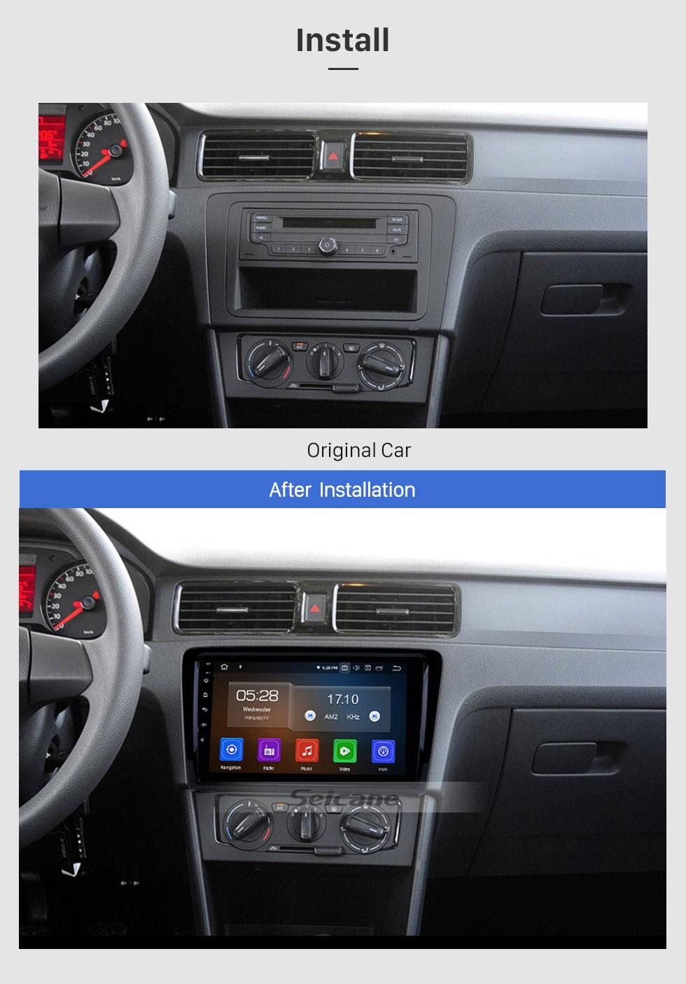 Seicane 9 inch 2012-2015 VW Volkswagen Santana Android 9.0 Radio GPS Navigation System Support 3G/4G WiFi Rear View Camera Backup Camera Mirror Link Bluetooth DVR