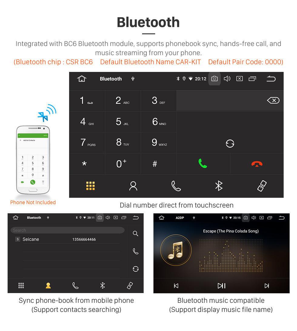 Seicane OEM 10.1 inch 2015 2016 2017 SKODA Octavia (UV) HD Сенсорный экран стерео стерео GPS-навигационная система Android 9.0 для поддержки Bluetooth 3G / 4G WIFI USB DVR OBD2 Камера заднего вида