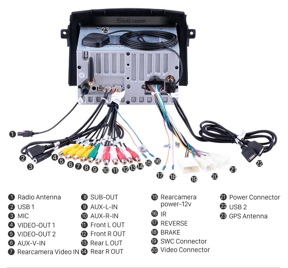 Seicane Système de navigation Android 9.0 2004-2010 Toyota Sienna Radio GPS avec écran tactile HD de contrôle Volant de sauvegarde de l'appareil Bluetooth 3G WIFI